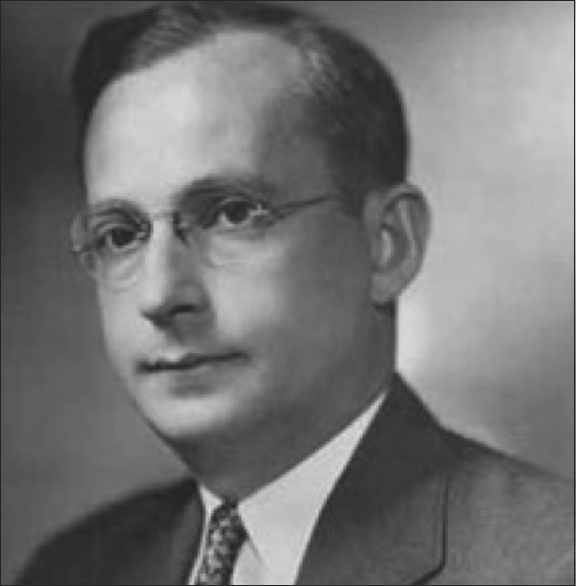 Figure 1: Dr. Saul Hertz 1905–1950 (published with permission of the Dr. Saul Hertz archive)